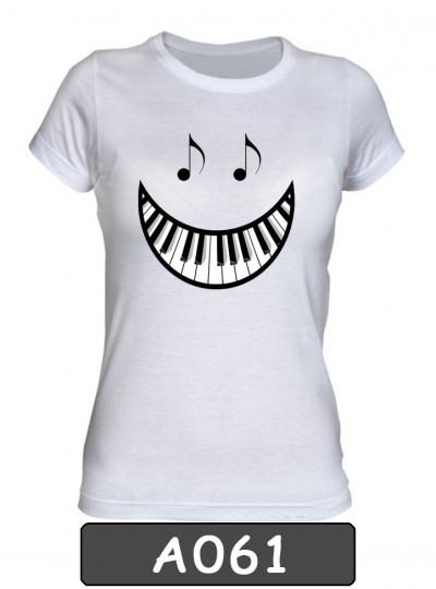 Remera estampada Smile Piano. A061
