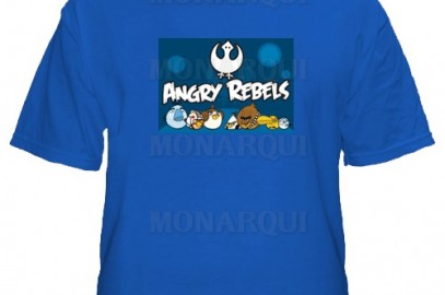 K018-Remera Angry birds star wars.